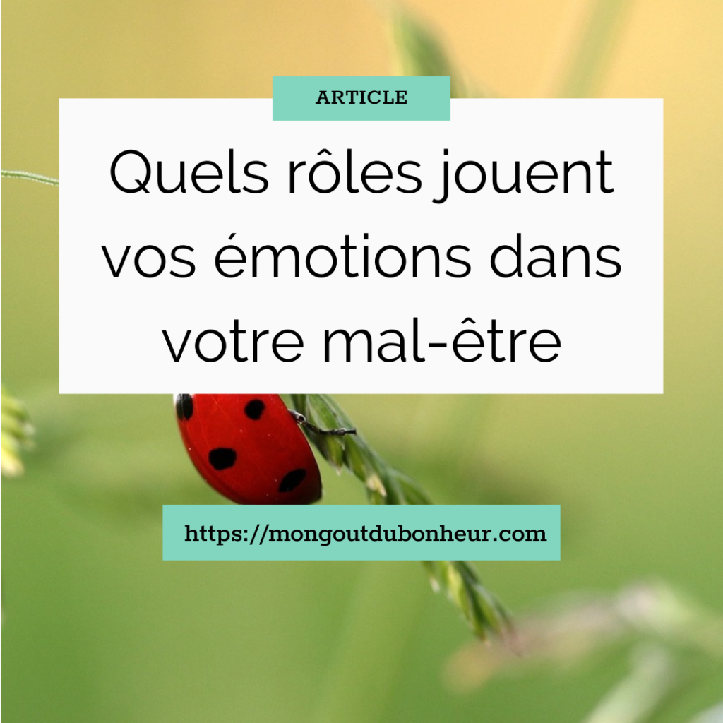 Quels rôles jouent vos émotions dans votre mal-être ?